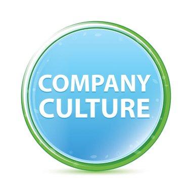 Company Culture natural aqua cyan blue round button