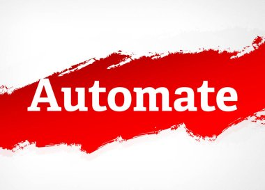 Automate Red Brush Abstract Background Illustration