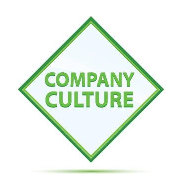 Company Culture modern abstract green diamond button