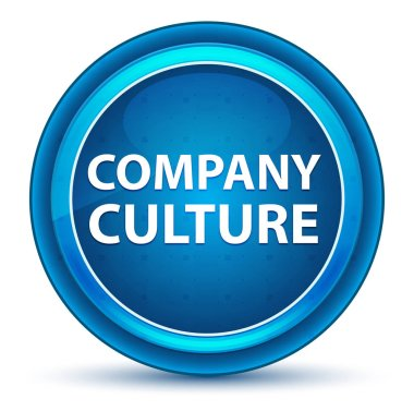 Company Culture Eyeball Blue Round Button