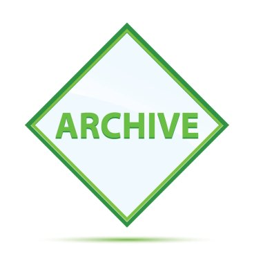 Archive modern abstract green diamond button