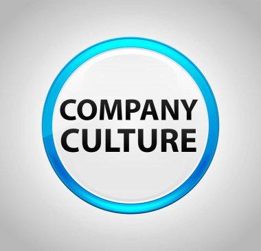 Company Culture Round Blue Push Button