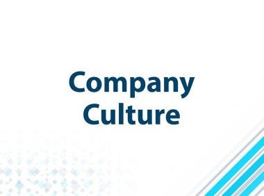 Company Culture Modern Flat Design Blue Abstract Background