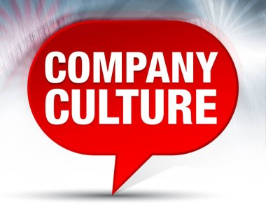 Company Culture Red Bubble Background