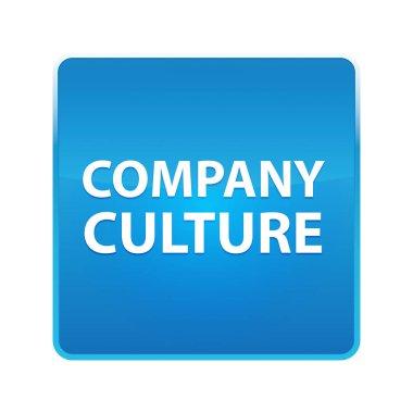 Company Culture shiny blue square button