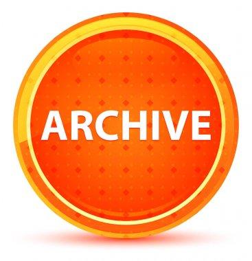 Archive Natural Orange Round Button