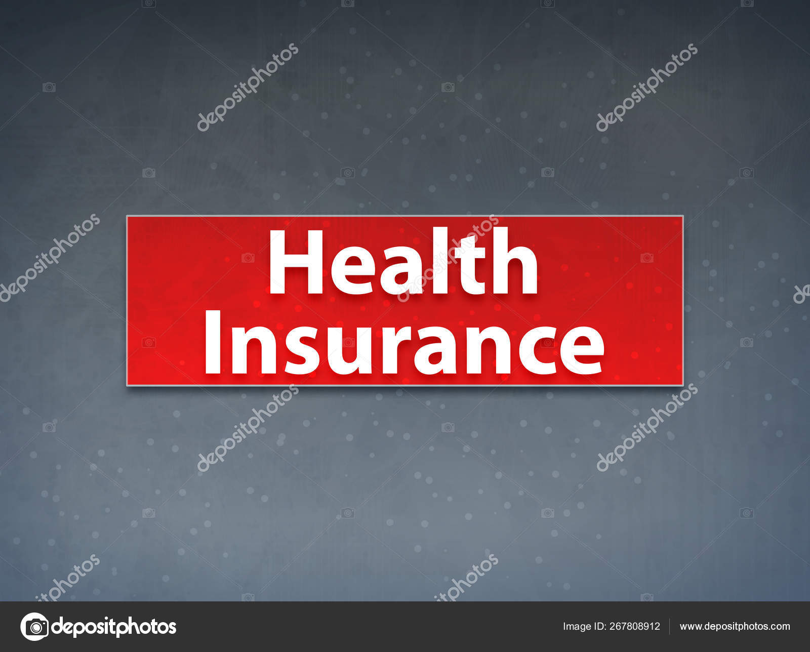 Health Insurance Red Banner Abstract Background Stock Photo C Bluejay18 267808912