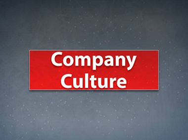 Company Culture Red Banner Abstract Background
