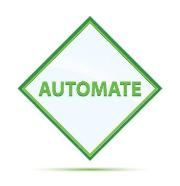 Automate modern abstract green diamond button