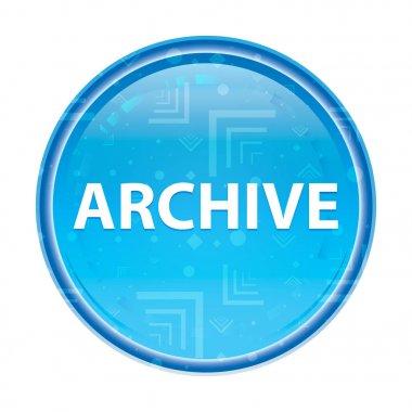 Archive floral blue round button