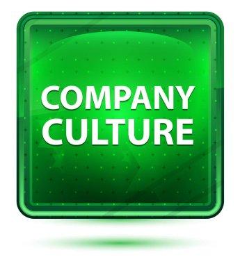 Company Culture Neon Light Green Square Button
