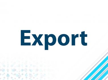 Export Modern Flat Design Blue Abstract Background