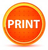 Tisknout přirozené oranžové kulaté tlačítko
