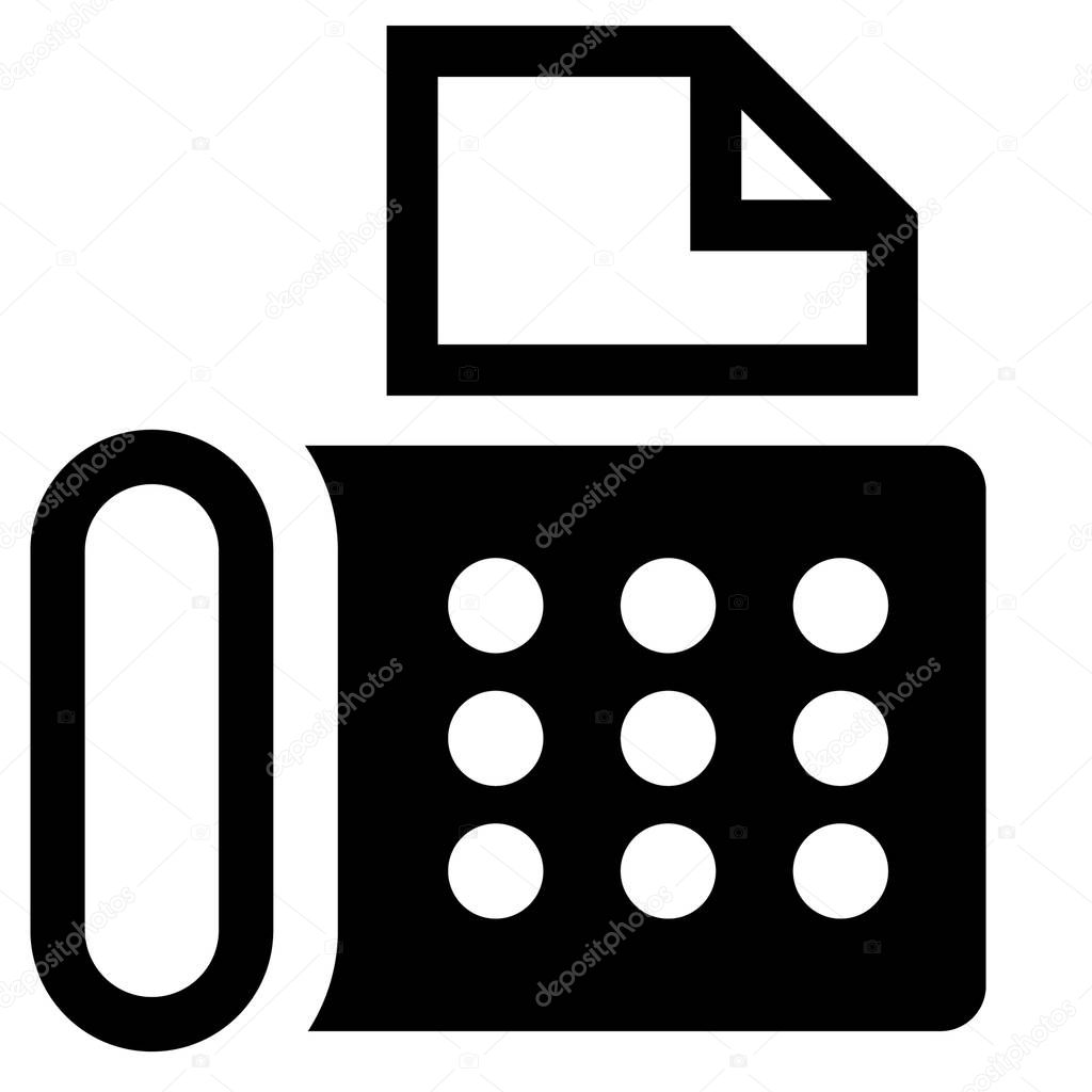 fax machine icon vector symbol premium vector in adobe illustrator ai ai format encapsulated postscript eps eps format wdrfree