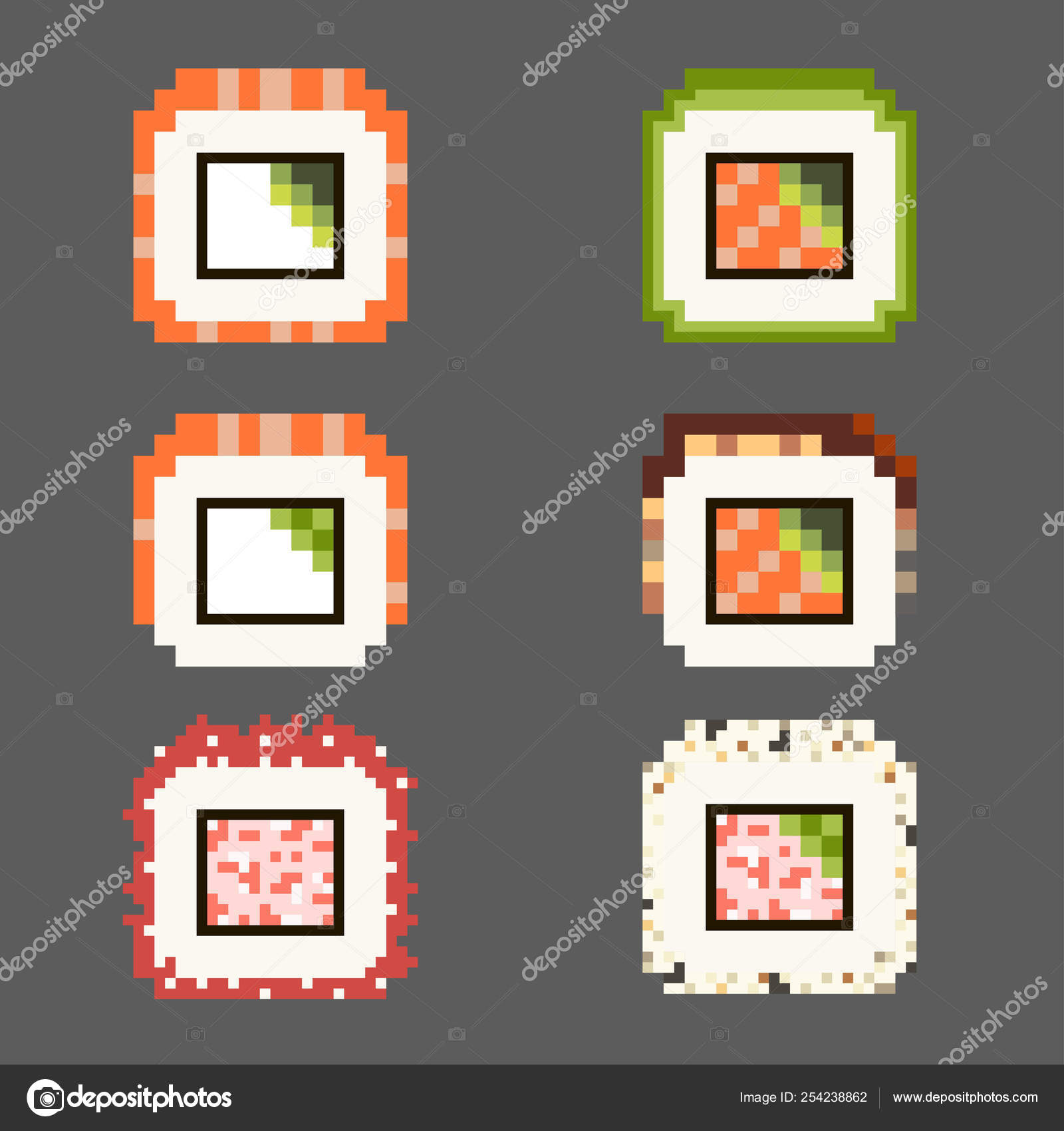 Pixel Art Food Kawaii Pixel Art Food Ikon Sets Japanese