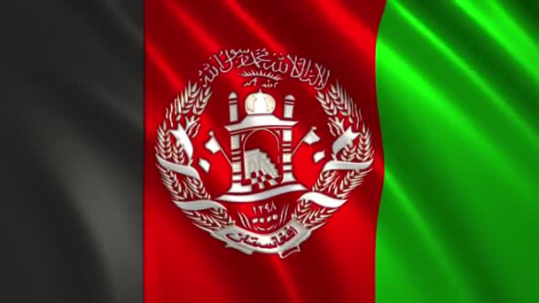 Charming 3D animation 4K flag of  Afghanistan  on silk and shadow