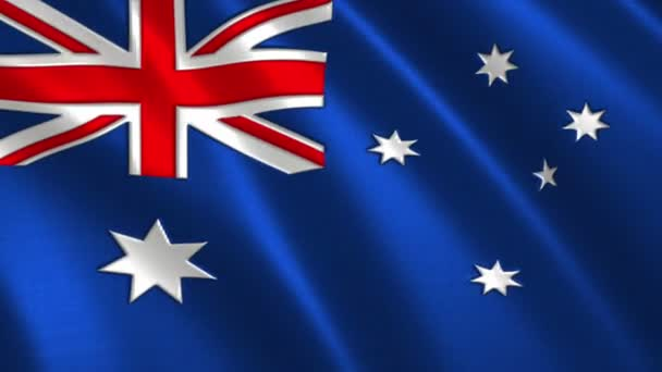 Charming 3D animation 4K flag of  Australia  on silk and shadow