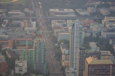 Bangkok Metropolitan Building Air pollution PM25 negatively impact health, Thailand