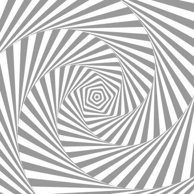 Abstract illusion in motion. Hypnotic Black and White element .Optical illusion. Vector. EPS10