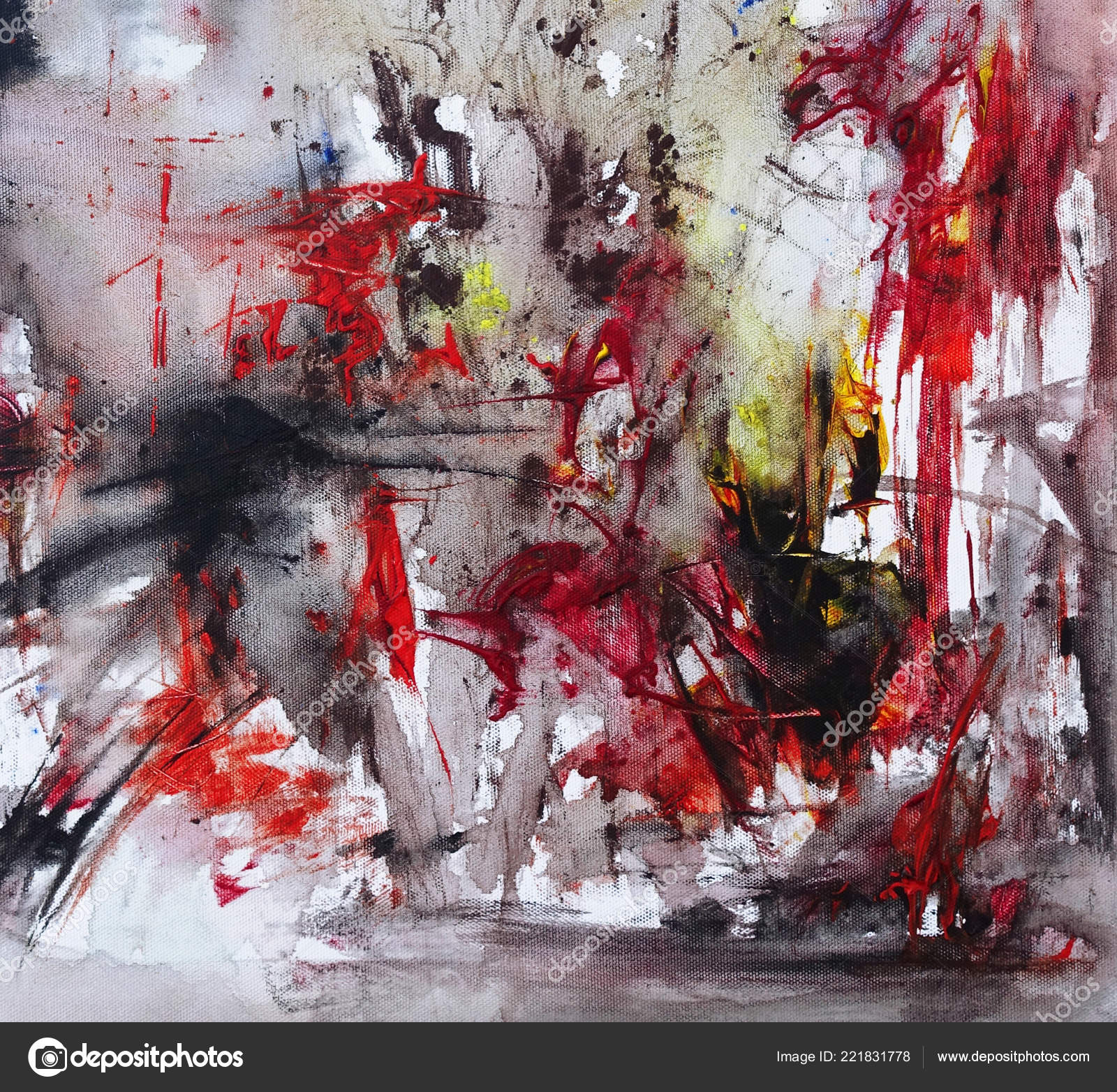 Pictures Abstract Art Black And Red Abstract Painting