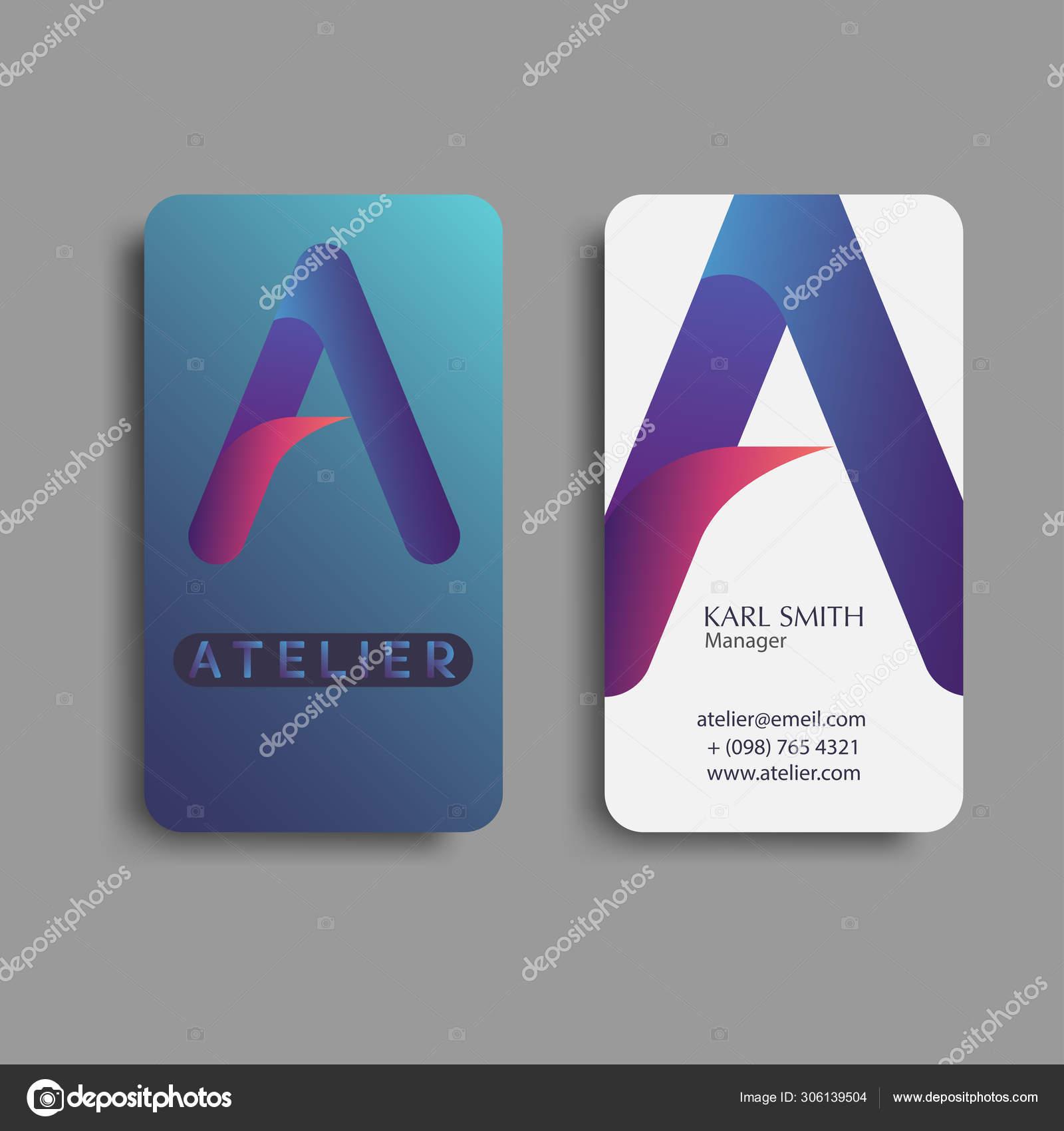 Creative and modern design business card template. Vector Illust