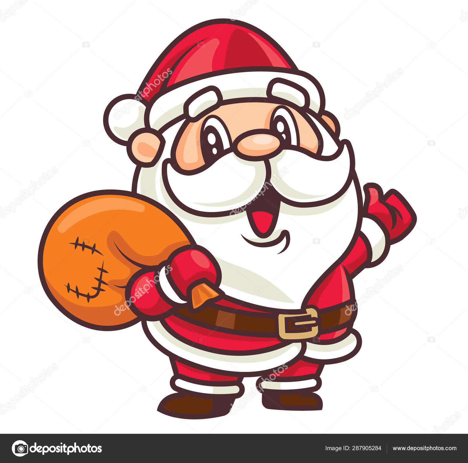 merry christmas cartoon cute santa claus mascot carrying christmas gift stock vector c charactoon 287905284 merry christmas cartoon cute santa claus mascot carrying christmas gift stock vector c charactoon 287905284