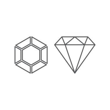 Diamond line icon, outline vector sign, linear style pictogram isolated on white. Gemstone symbol, logo illustration.