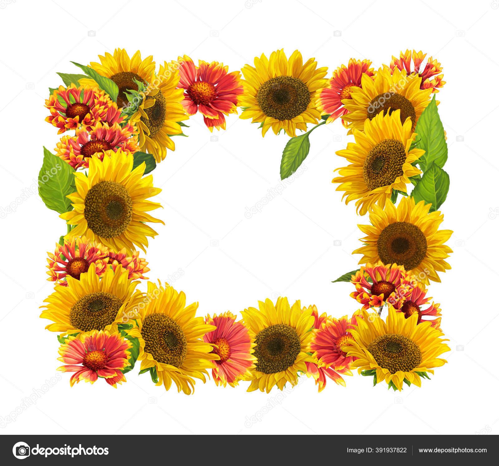 Adegan Kartun Dengan Bunga Yang Indah Dan Berwarna Warni Dengan Stok Foto C Agaes8080 391937822