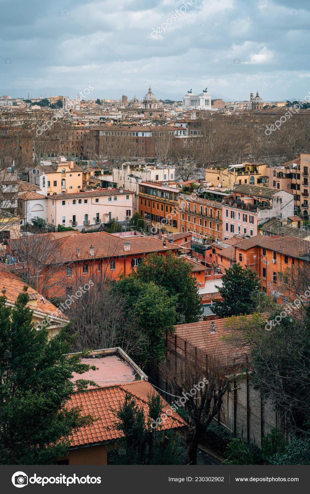Vista Roma Desde Terraza Del Gianicolo Roma Italia Foto