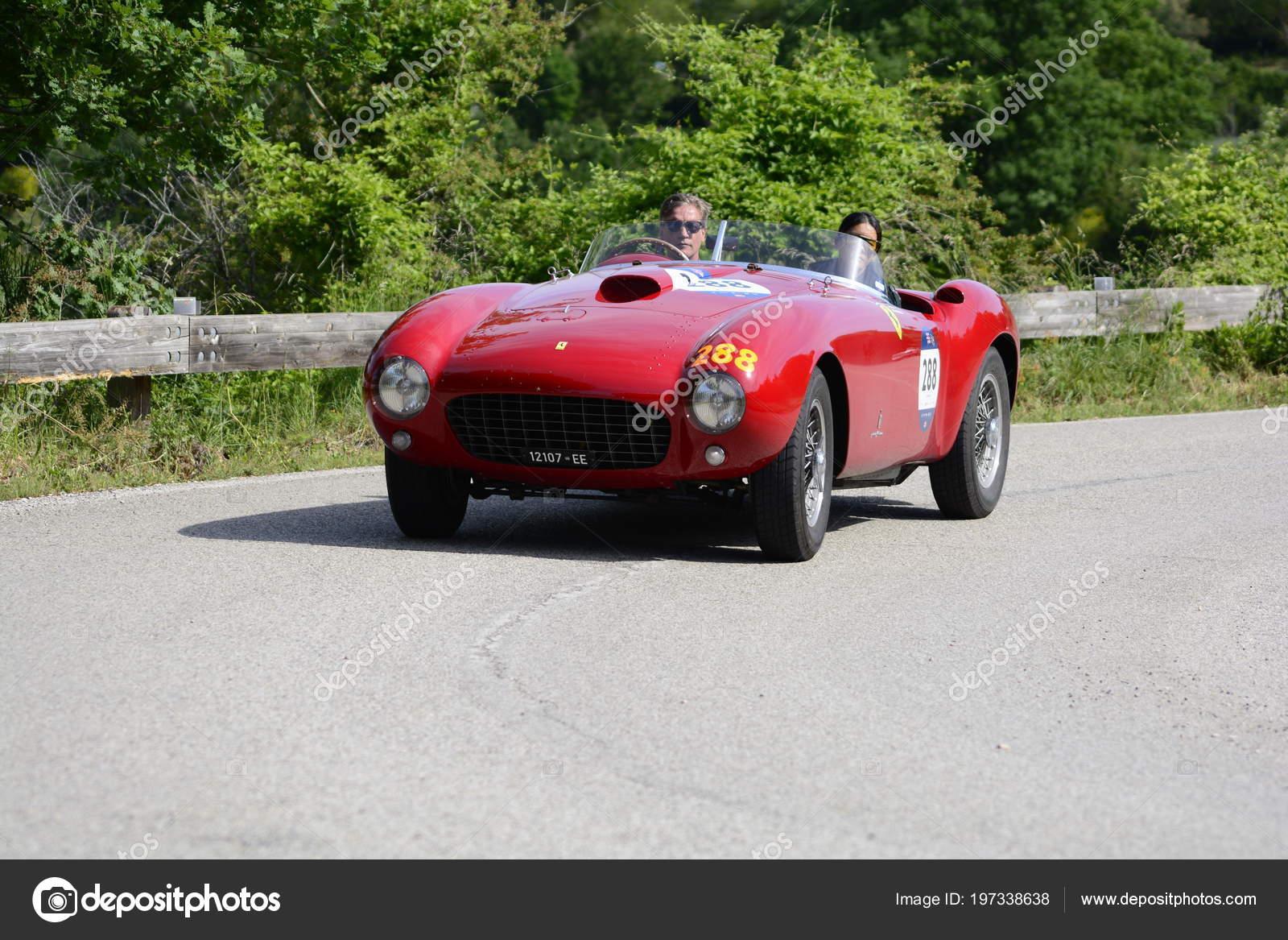 Pesaro Colle San Bartolo Italy May 2018 Ferrari 375 Spider Stock Editorial Photo C Massimocampa 197338638