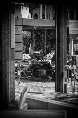 PORTO CERVO, ITALY - AUGUST 13 2019 : Sports car Jaguar all-electric FIA Formula E