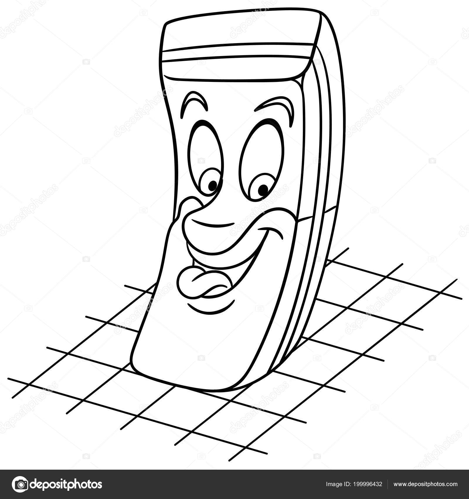 Rubber Eraser Coloring Page Colouring Picture Coloring Book