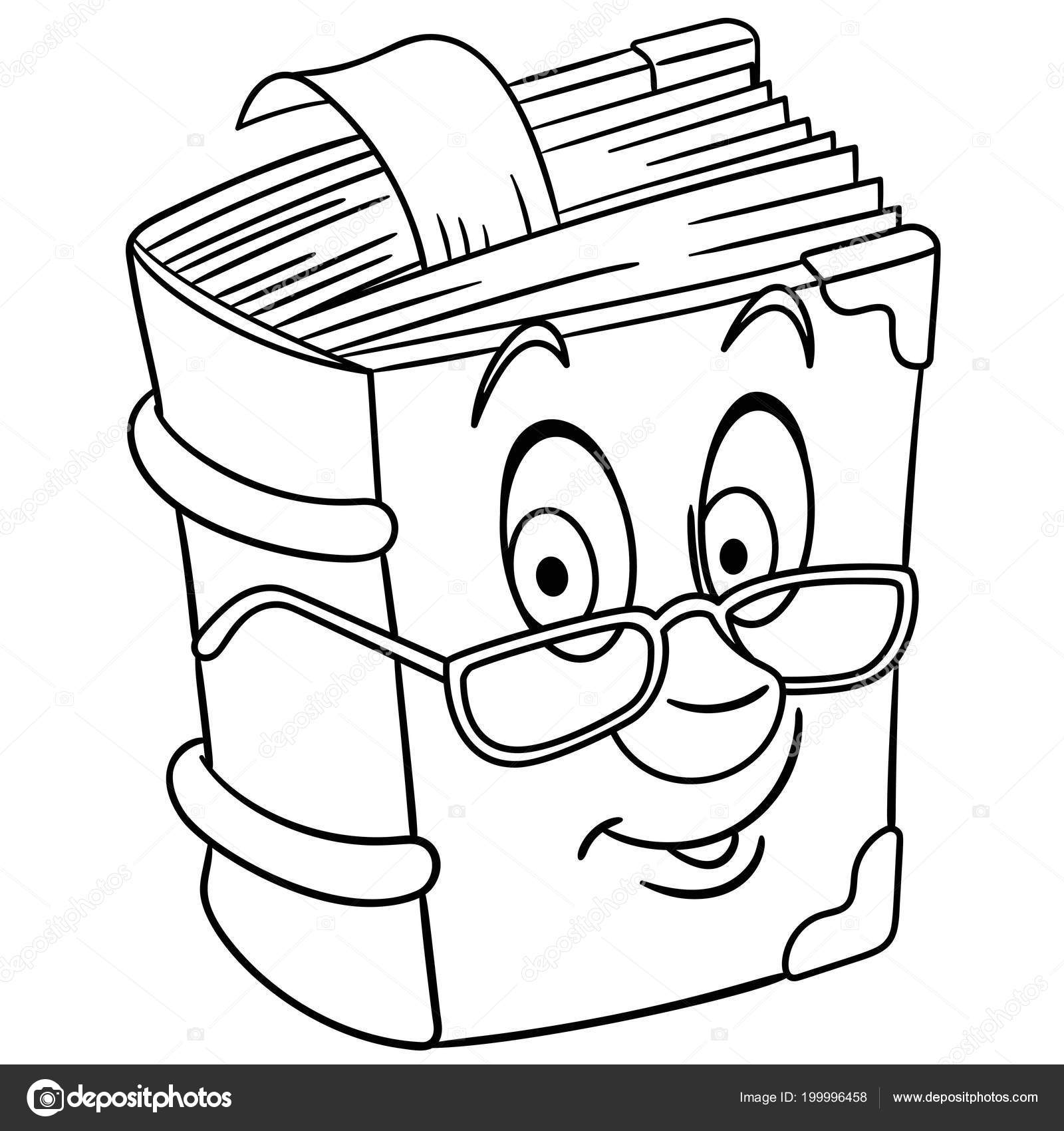vintage book textbook coloring page colouring picture