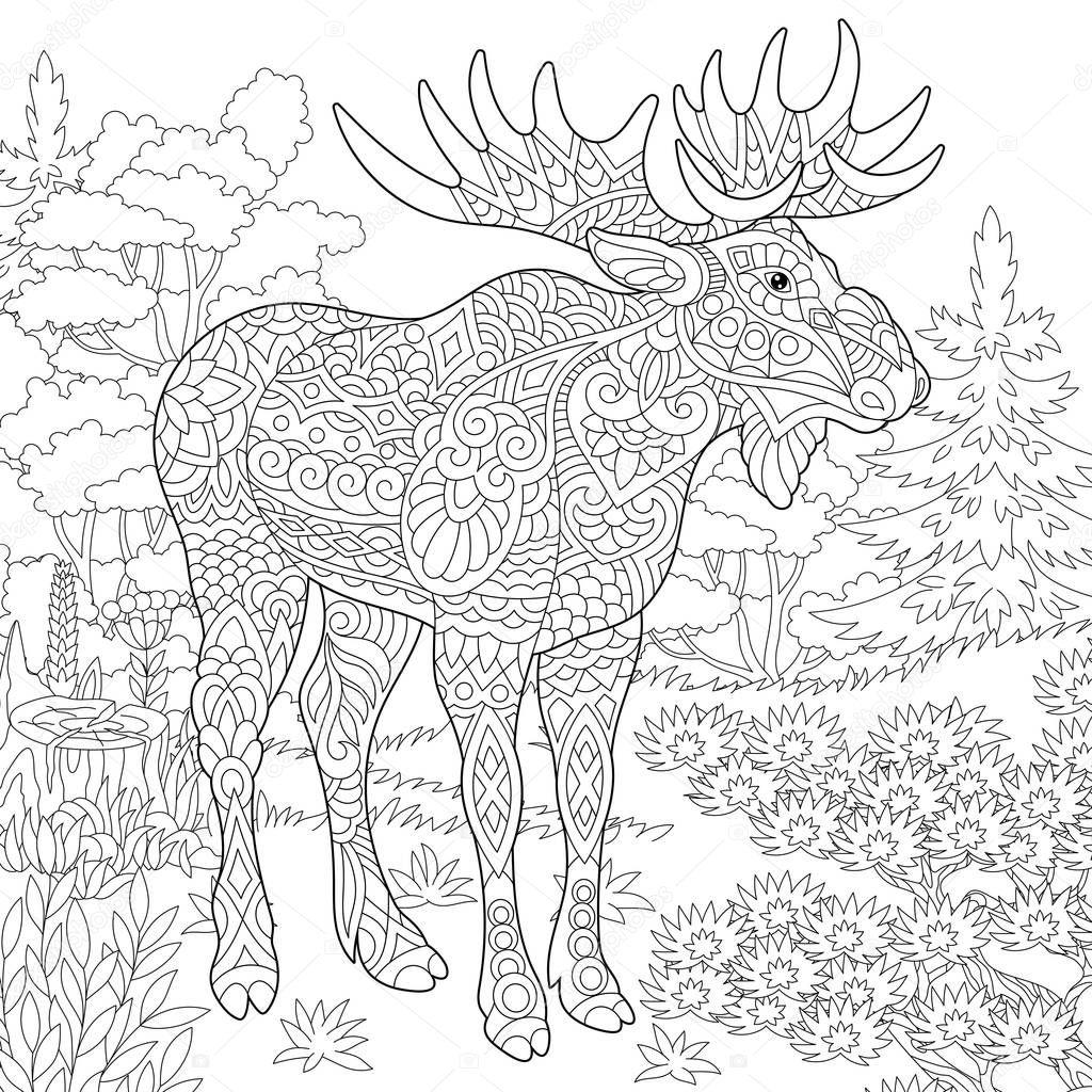 Malvorlage Waldlandschaft  Coloring and Malvorlagan