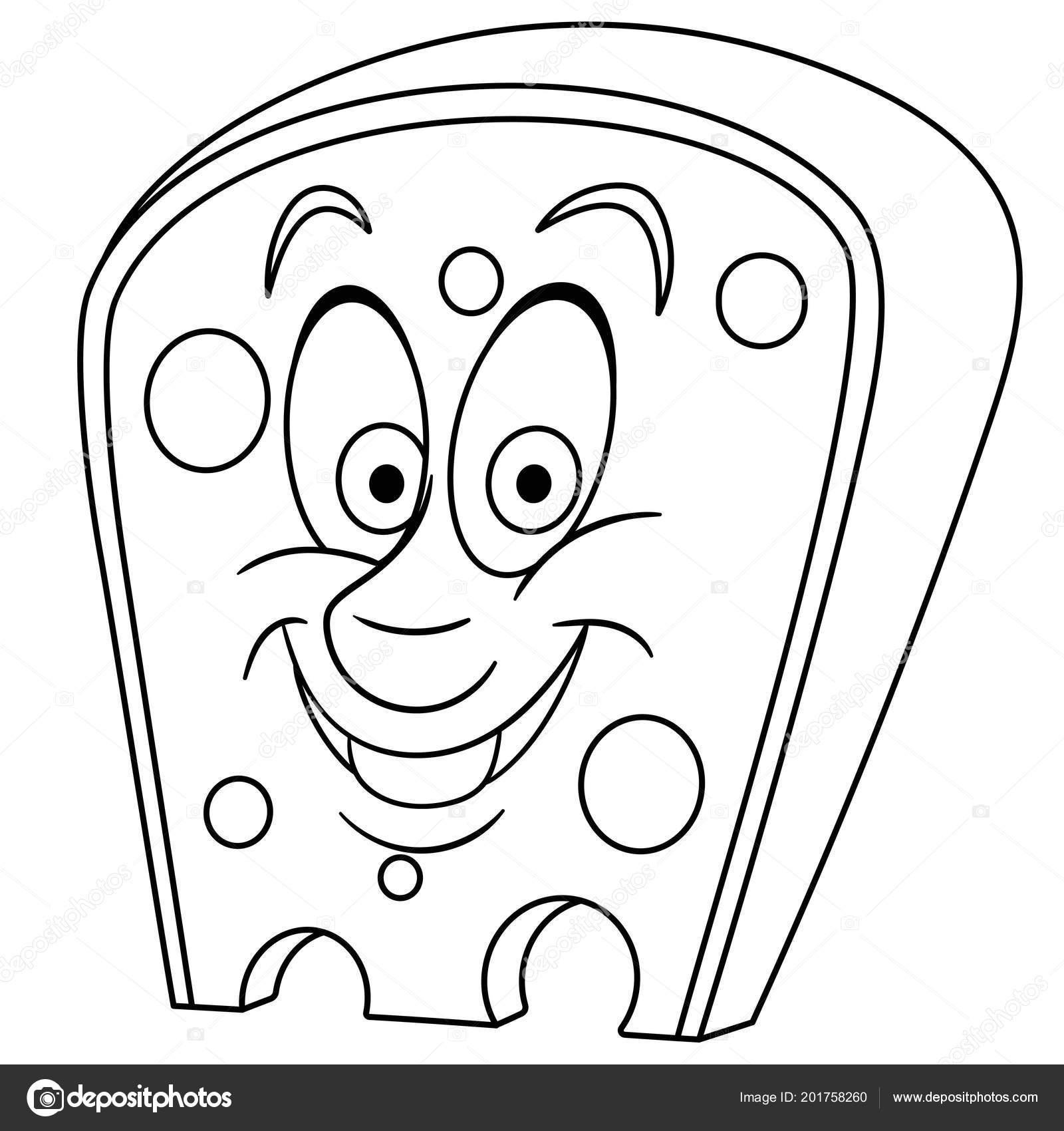 Boyama Sayfası Boyama Kitabı Isviçre Peyniri Delikleri Ile Mutlu