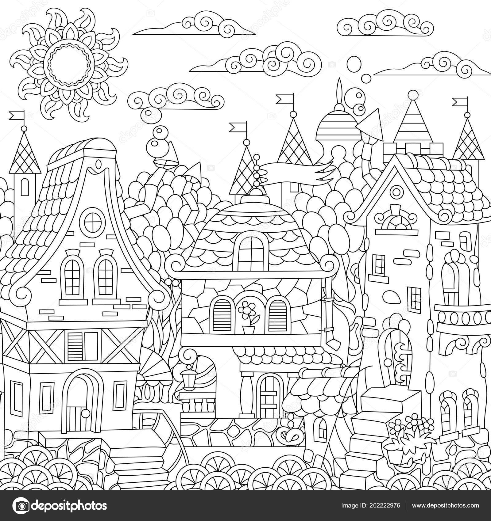 sprookje stad sprookjesachtige stad fantasie centrum