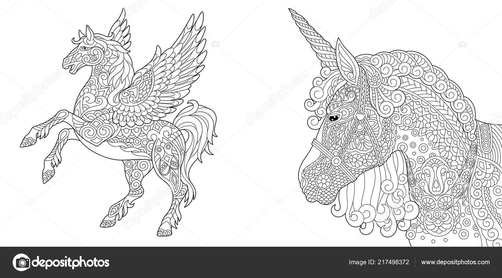 Coloring Pages Coloring Book Adults Colouring Pictures Unicorn