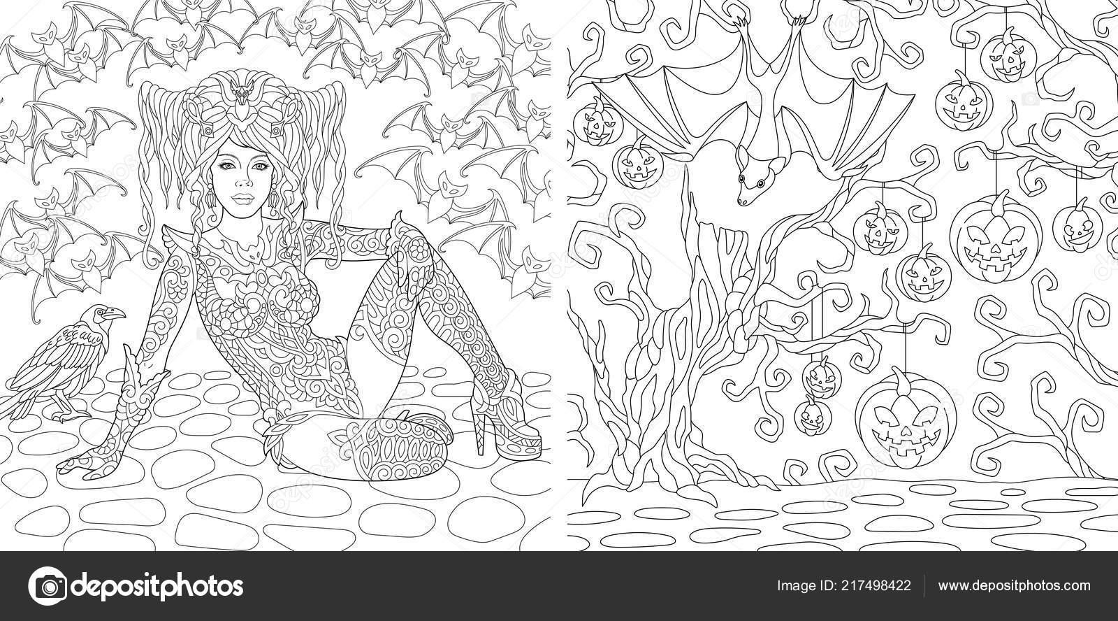 Vispera Todos Los Santos Dibujos Para Colorear Libro Para Colorear