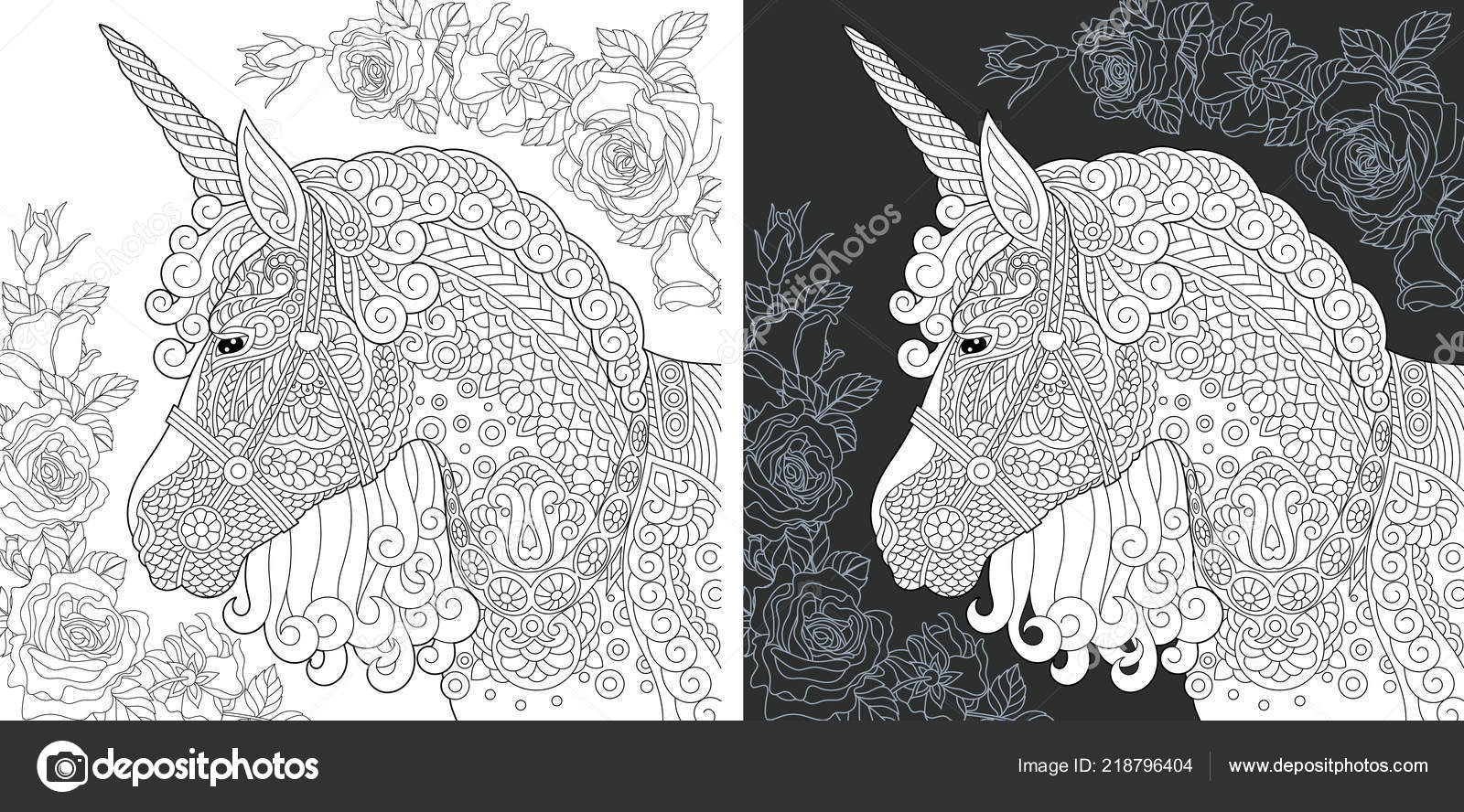 Einhorn Malvorlagen Malbuch Ausmalbild Mit Fantasy Pferd