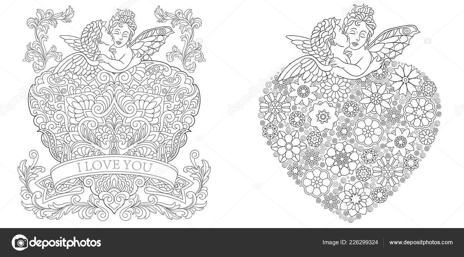 Coloring Pages Coloring Book Adults Colouring Pictures Valentines