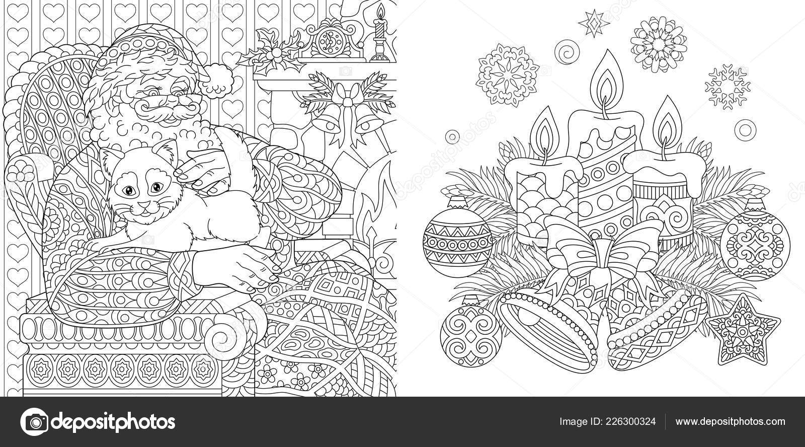 Christmas Colouring Pages Coloring Book Adults Santa Claus
