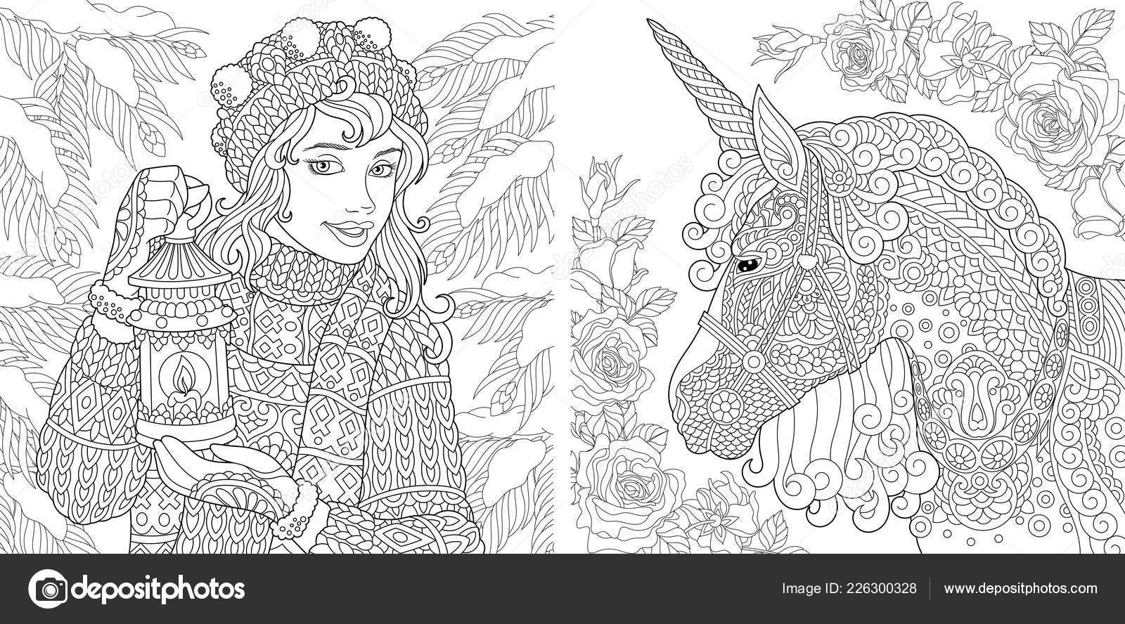 Fantasy Coloring Pages Coloring Book Adults Colouring Pictures