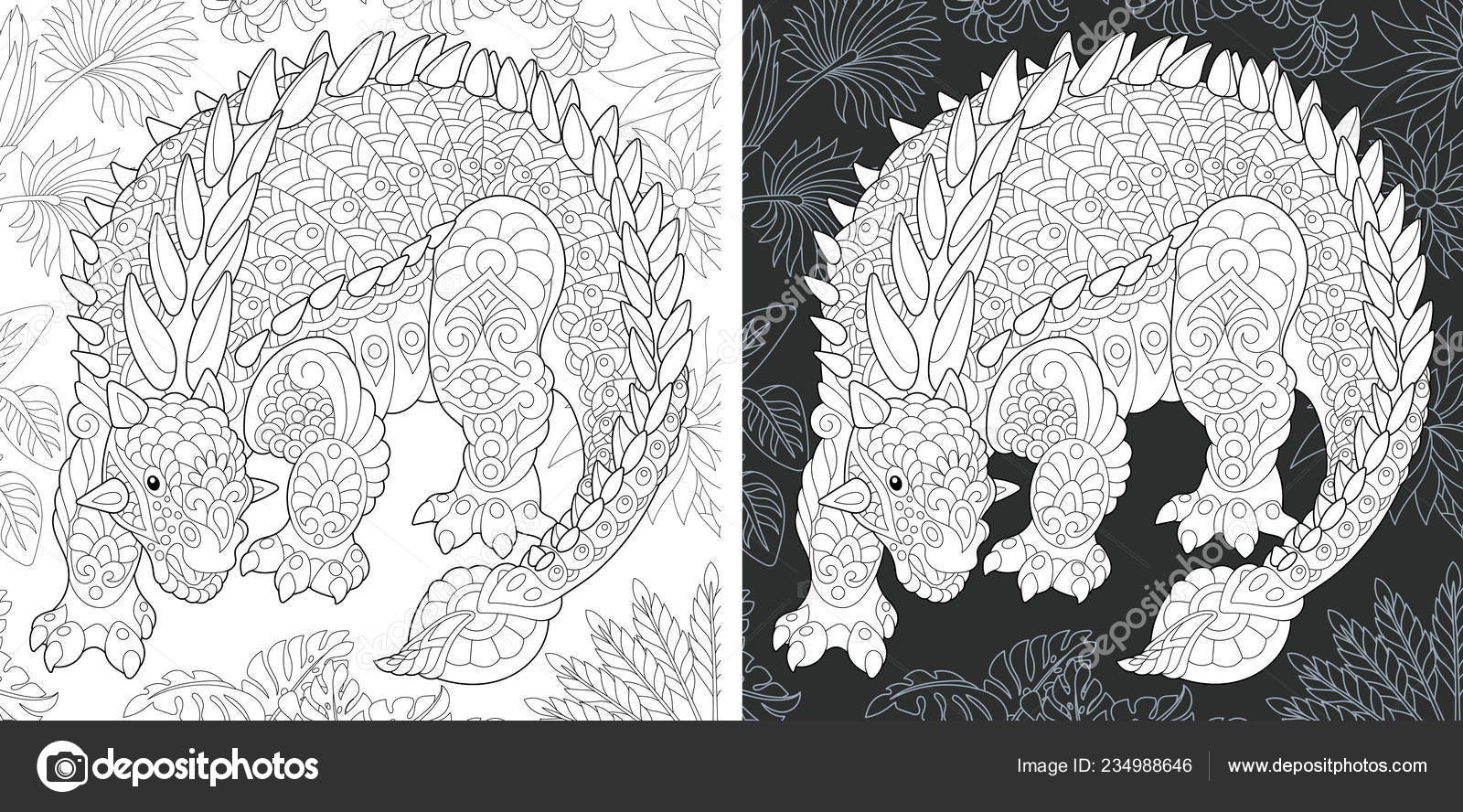Coloring Page Dinosaur Collection Colouring Picture ...