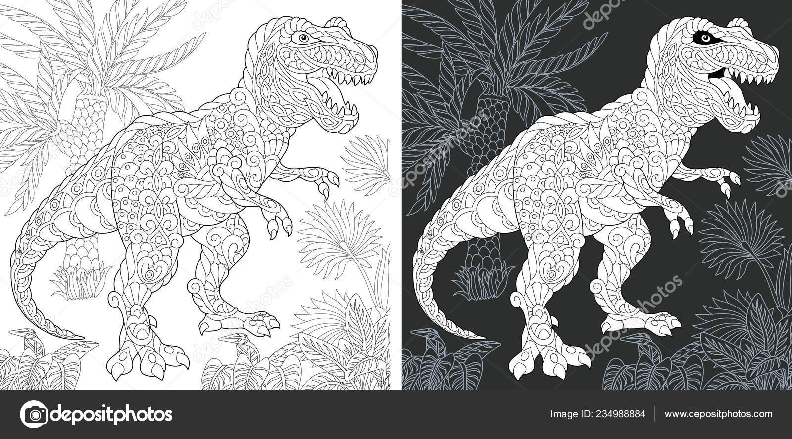 Malvorlagen Dinosaurier Sammlung Ausmalbild Mit Tyrannosaurus Rex