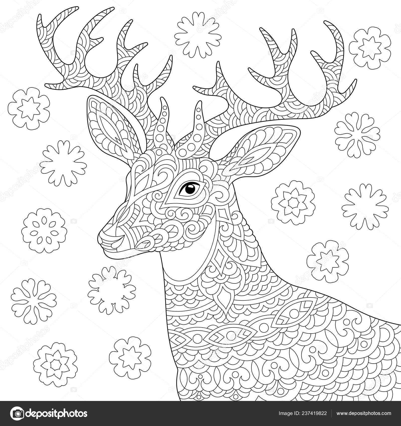 Coloriage Livre Coloriage Photo Coloriage Stress Avec Cerf