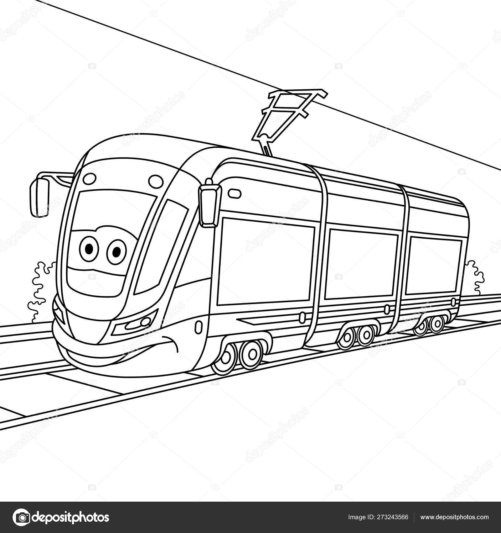 Tramway Coloring Pages