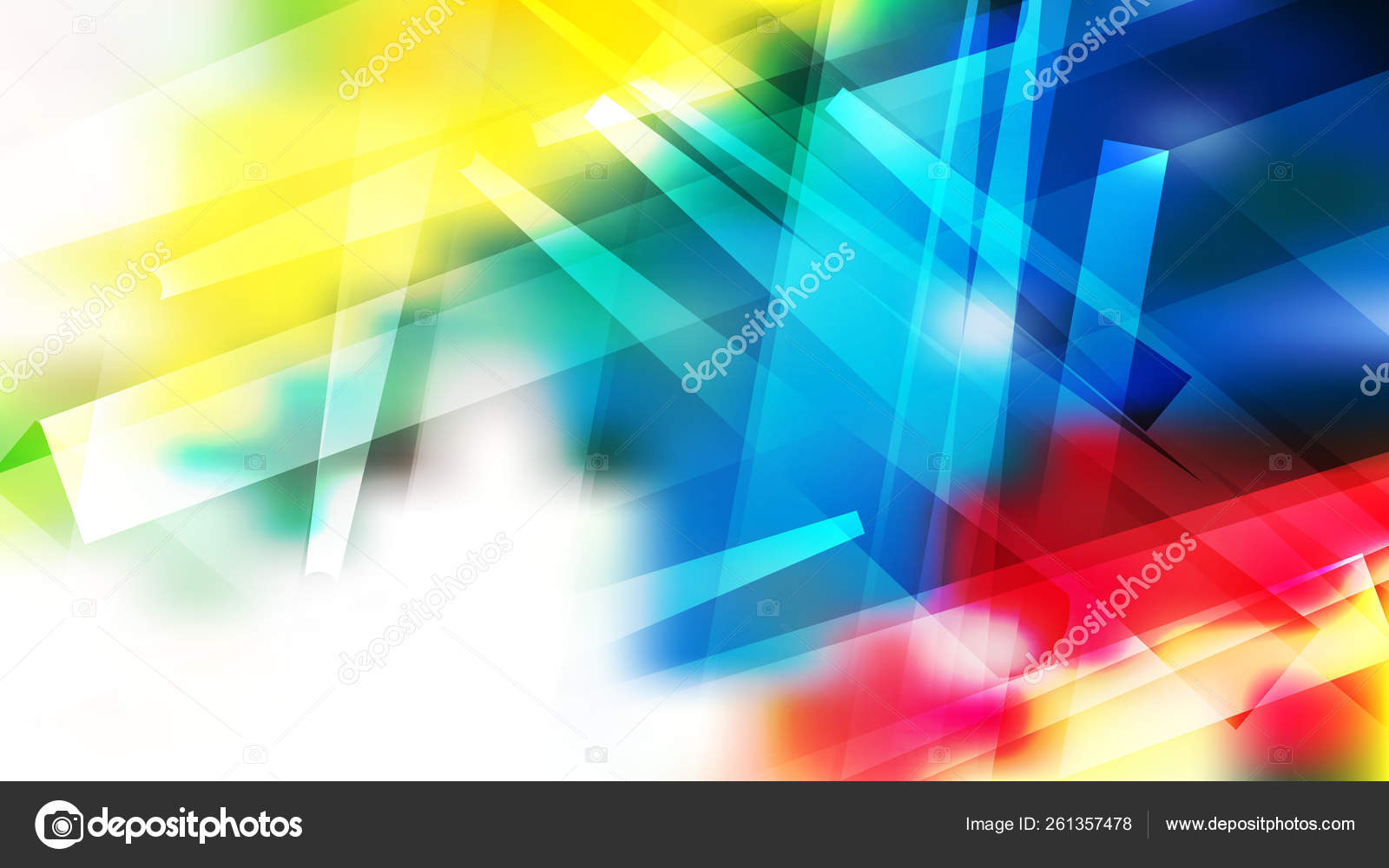 Abstract Red Yellow And Blue Modern Geometric Shapes