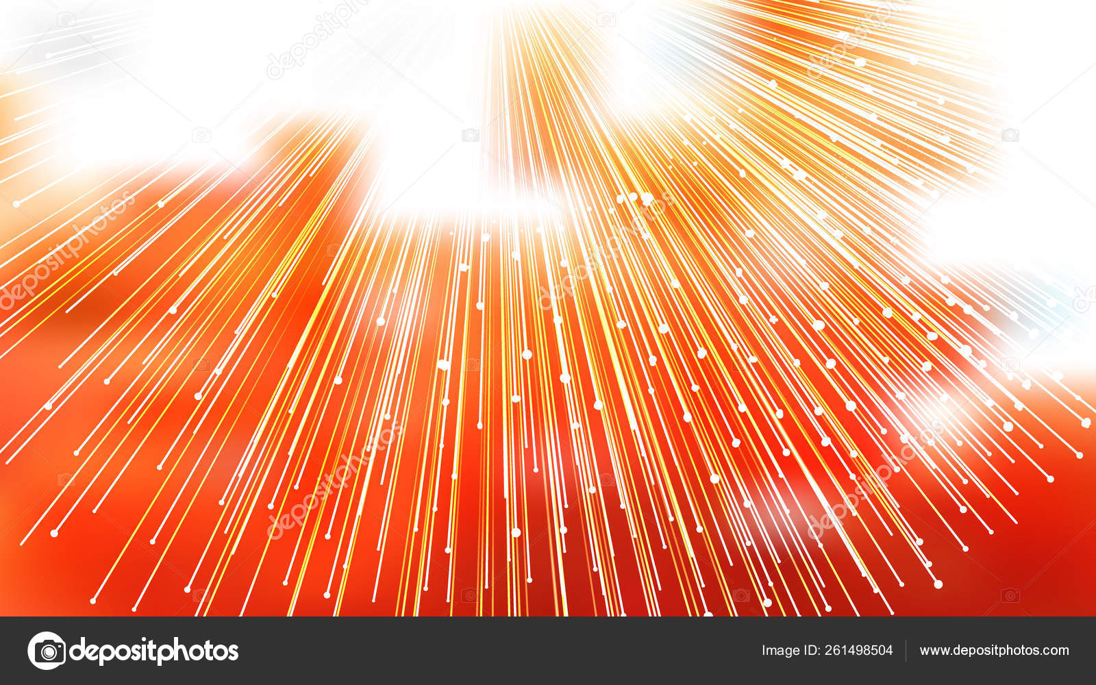 Abstract Orange And White Light Rays Lines Background