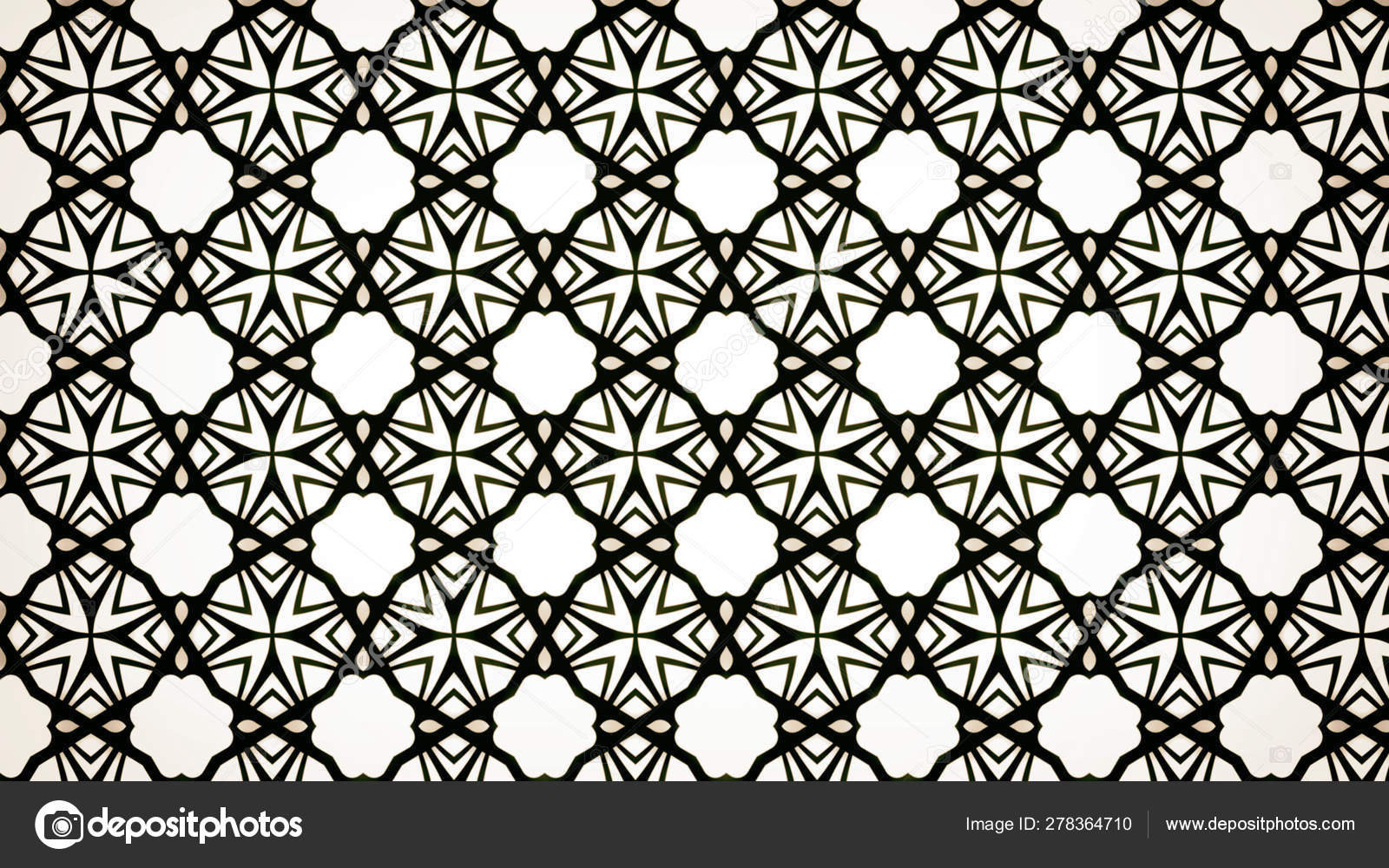 Black White Floral Geometric Wallpaper Pattern Beautiful