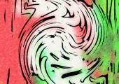 bunte Wellen, abstrakter Hintergrund für Kopierraum